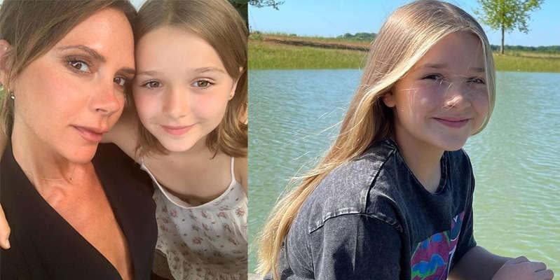 Hija de Victoria Beckham en vestido verde y tenis muestra su gran estilo a sus 10 años